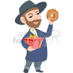 Royalty free vector clip. Rabbi clipart