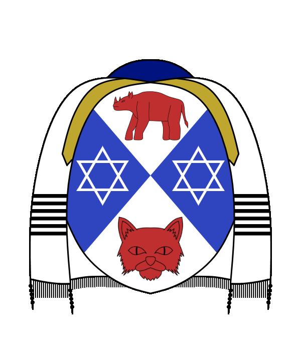 Rabbi clipart judaism symbol. Coat of arms for