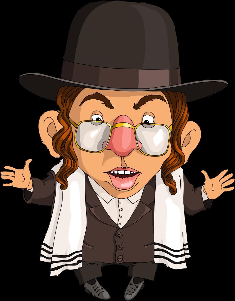 Rabbi clipart person israel. Jewish people judaism cartoon