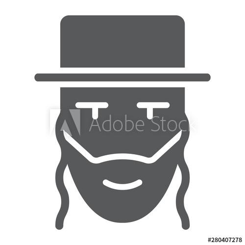 Rabbi clipart person israel. Glyph icon and jewish