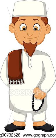 Rabbi clipart religious leader. Vector cartoon