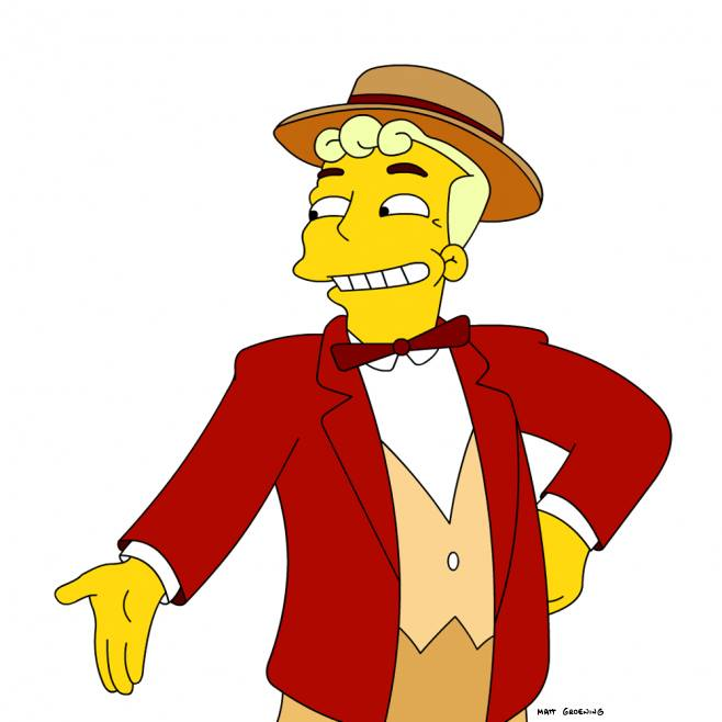 Rabbi clipart simpsons character. Lyle lanley the tapped