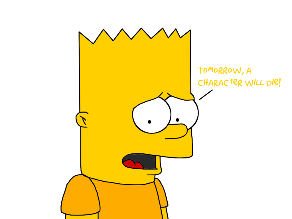 Rabbi clipart simpsons character. Tomorrow a will die