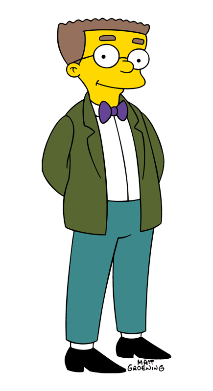 Rabbi clipart simpsons character. Waylon smithers from the