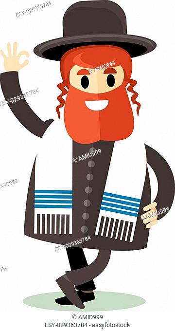 Rabbi clipart tallis. Orthodox jew tallit stock