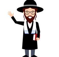 Rabbi clipart tallit. Happy jewish couple in