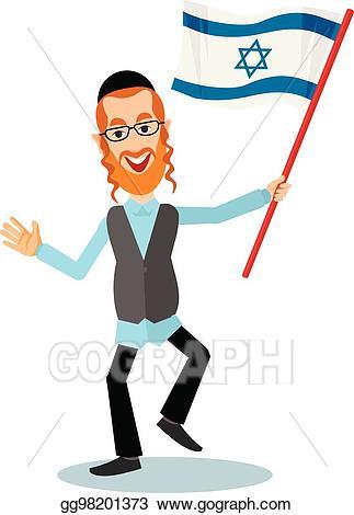 Vector stock jew with. Rabbi clipart tallit