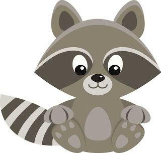 Raccoon clipart. Freebie clip art barbara