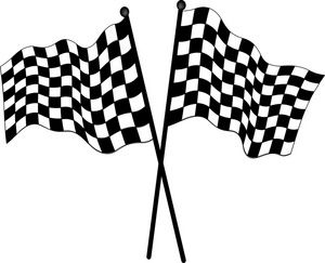 Race clipart. Free printable car flags