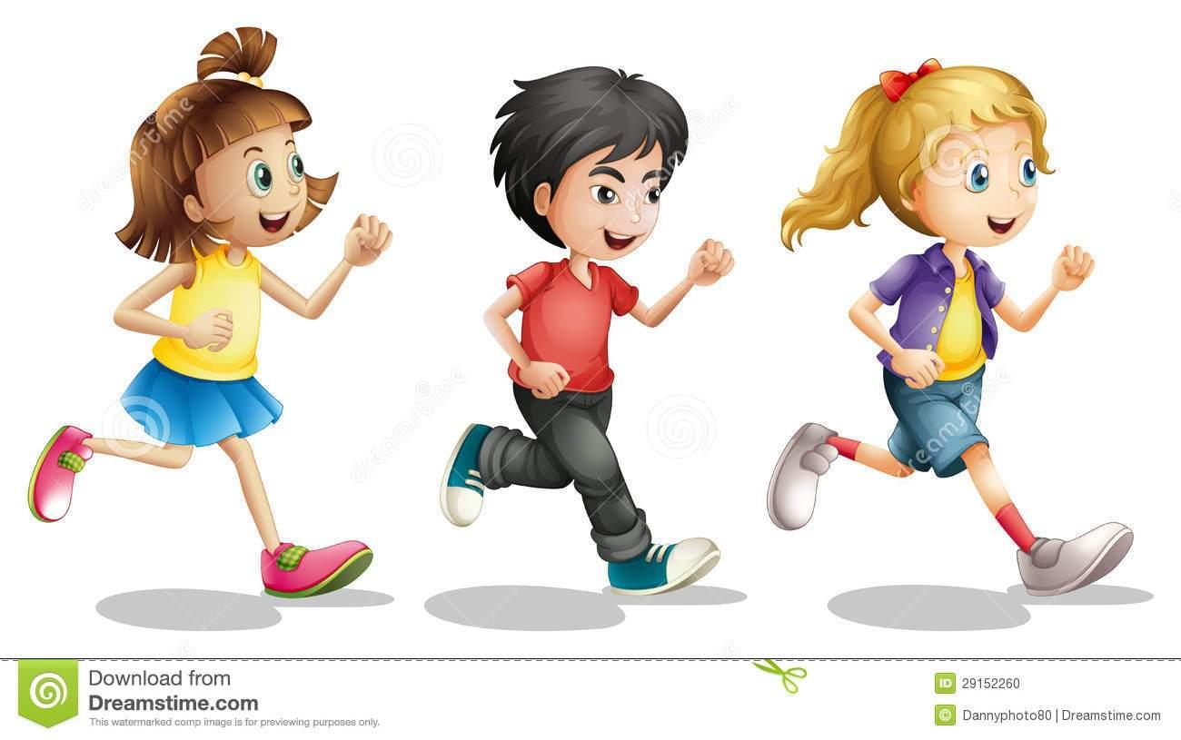 Kids running a portal. Race clipart 3 kid