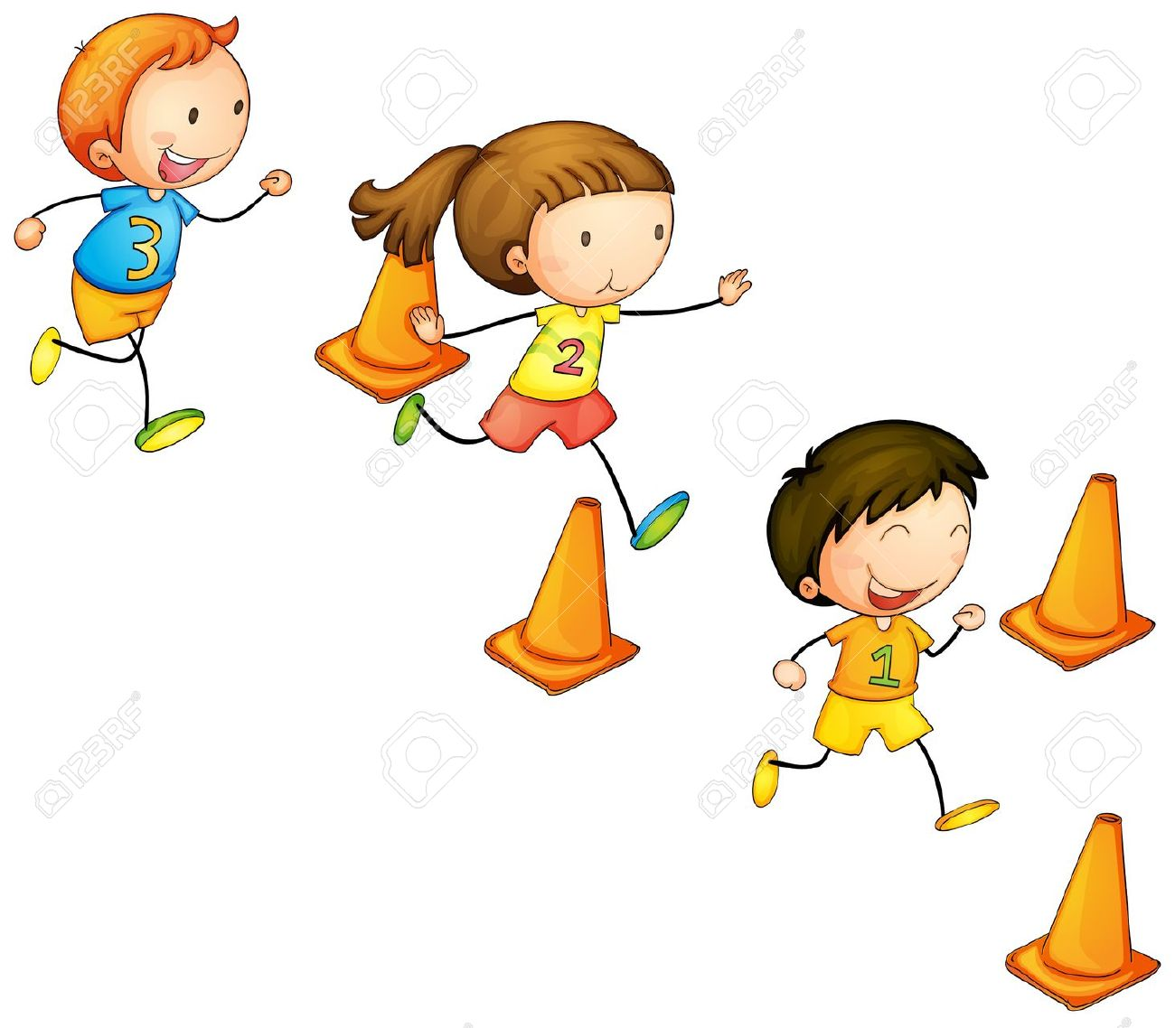 Running free download best. Race clipart 3 kid