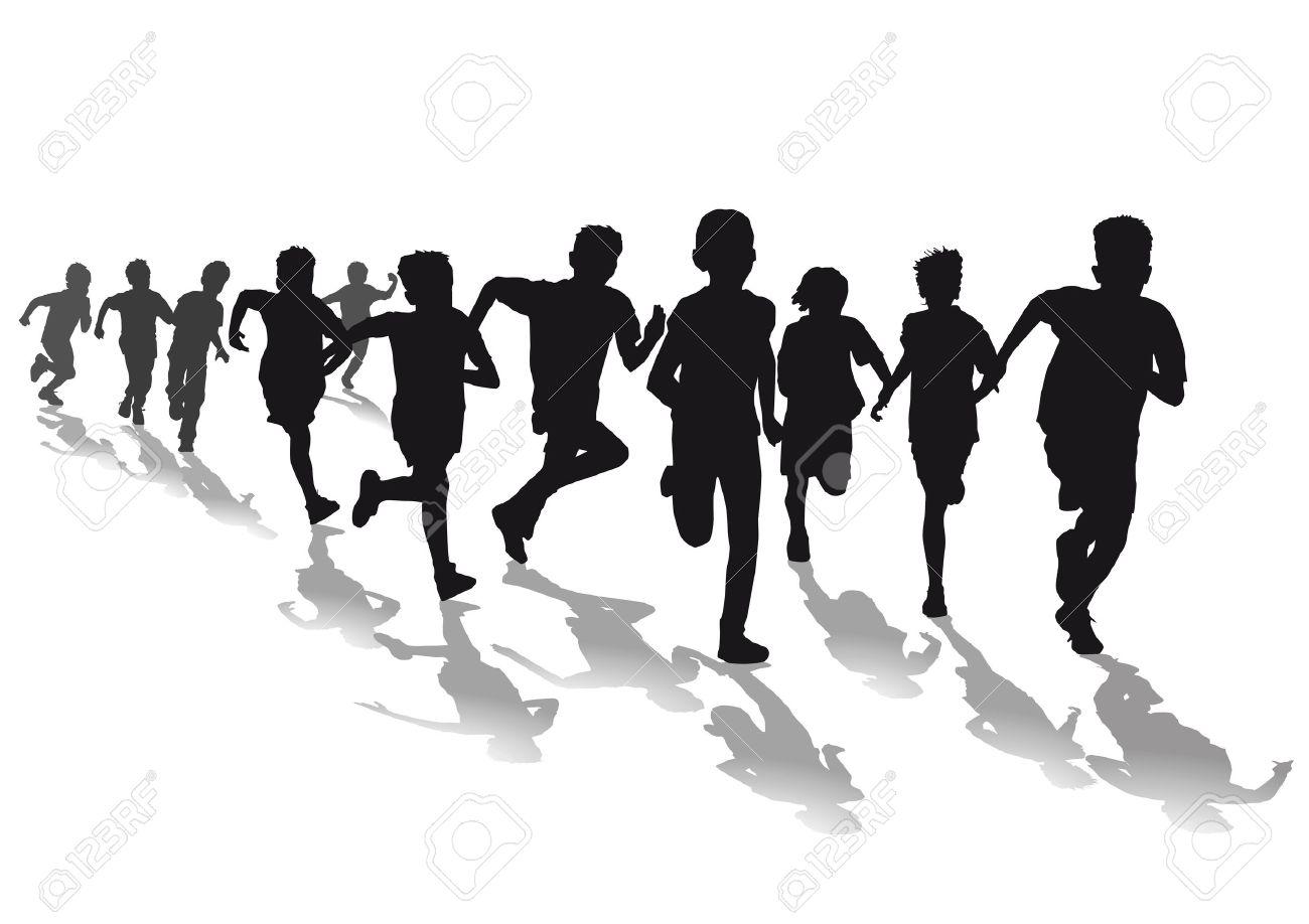 Race clipart 3 kid. Kids running portal