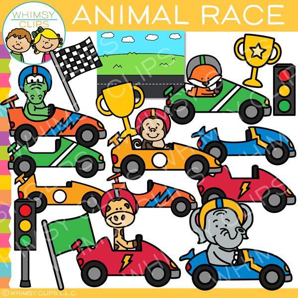 Race clipart animal race. Car clip art images