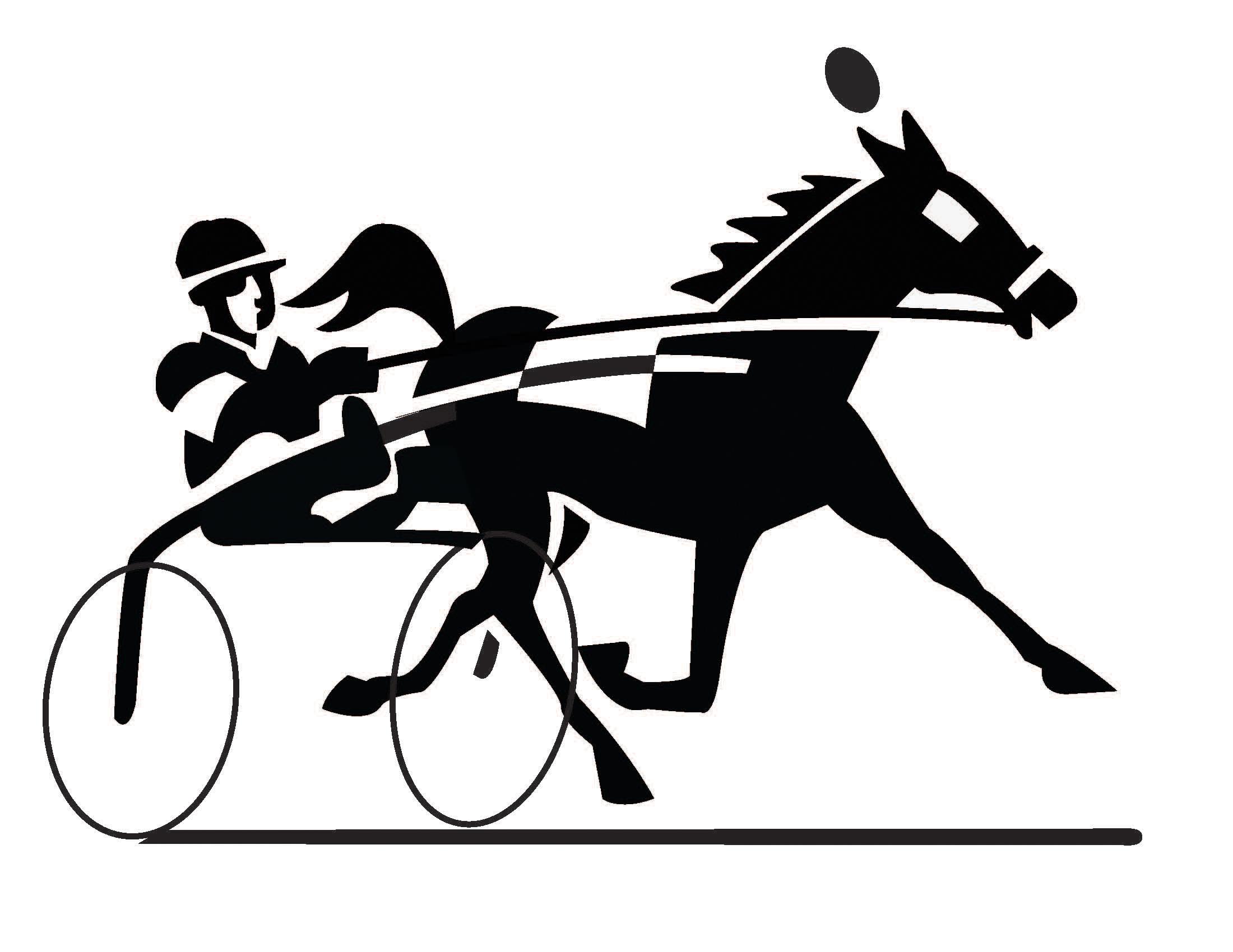 Race clipart animal race. Harness racing