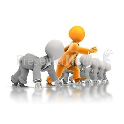 Race clipart beginning. Business head start powerpoint