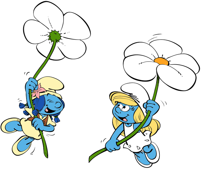 Smurfs the village clip. Thoughts clipart lost