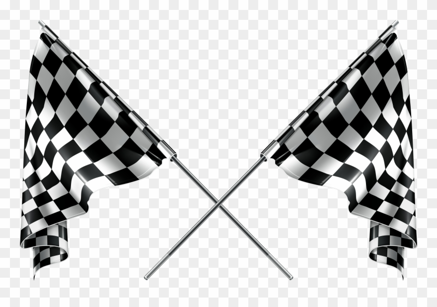 Checkered flags png racing. Race clipart checker flag