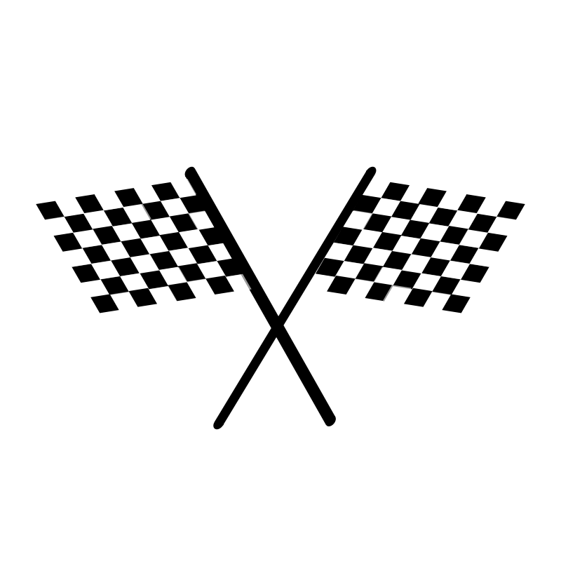 Checkered flags clip art. Race clipart checkerboard
