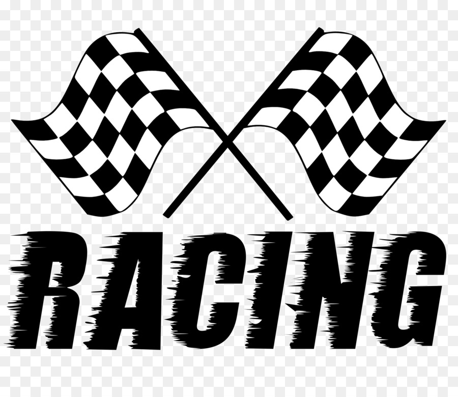 Race clipart checkered flag. Font racing text transparent