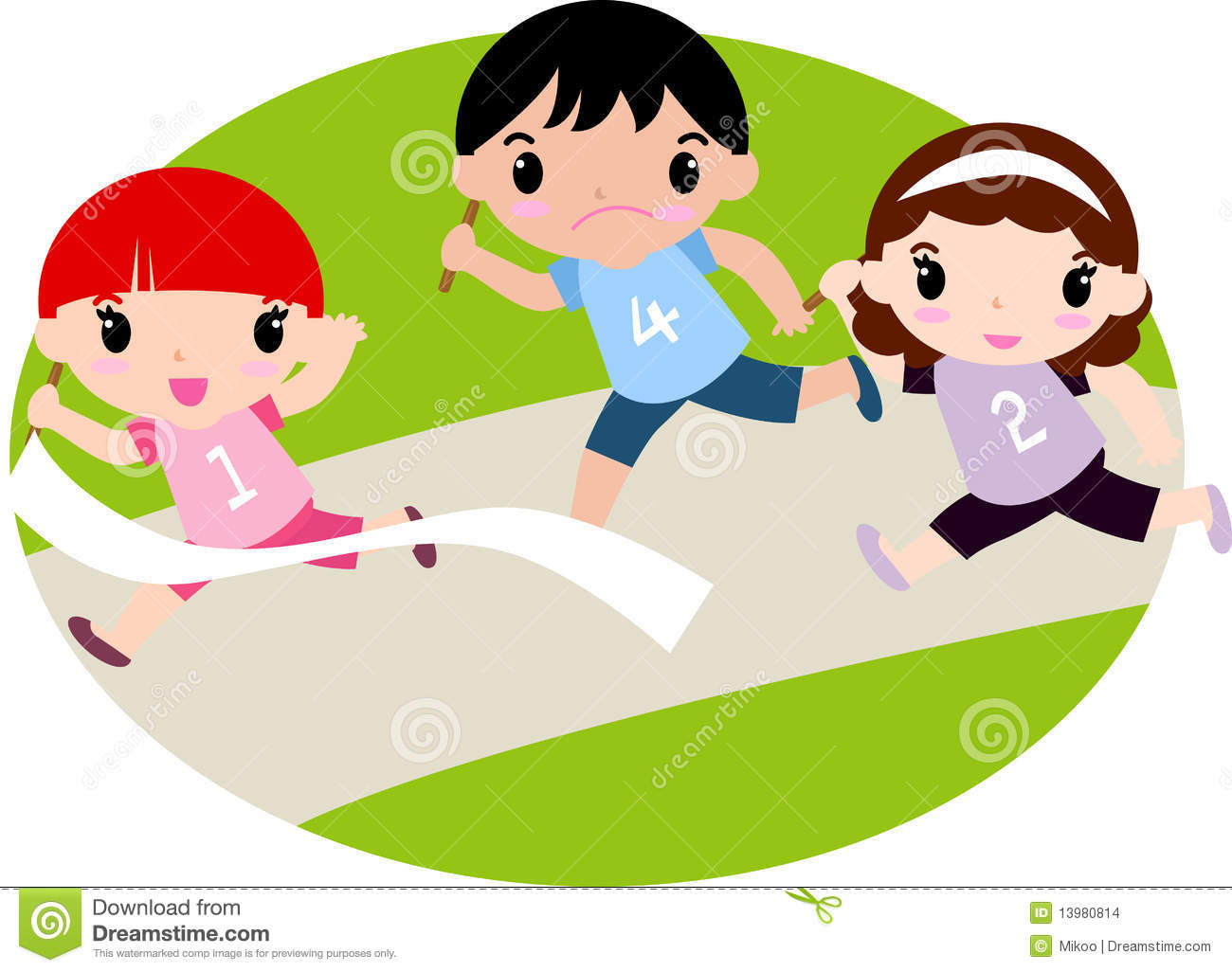 Running a download free. Race clipart child run