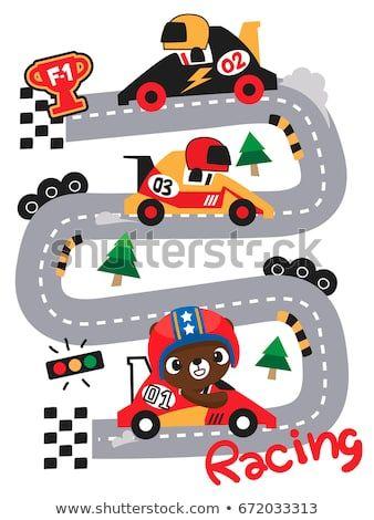 Cute teddy bear cartoon. Race clipart children's