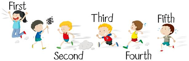 Race clipart children's. Kids running free vector