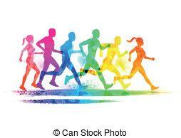 Running clip art . Race clipart cross country