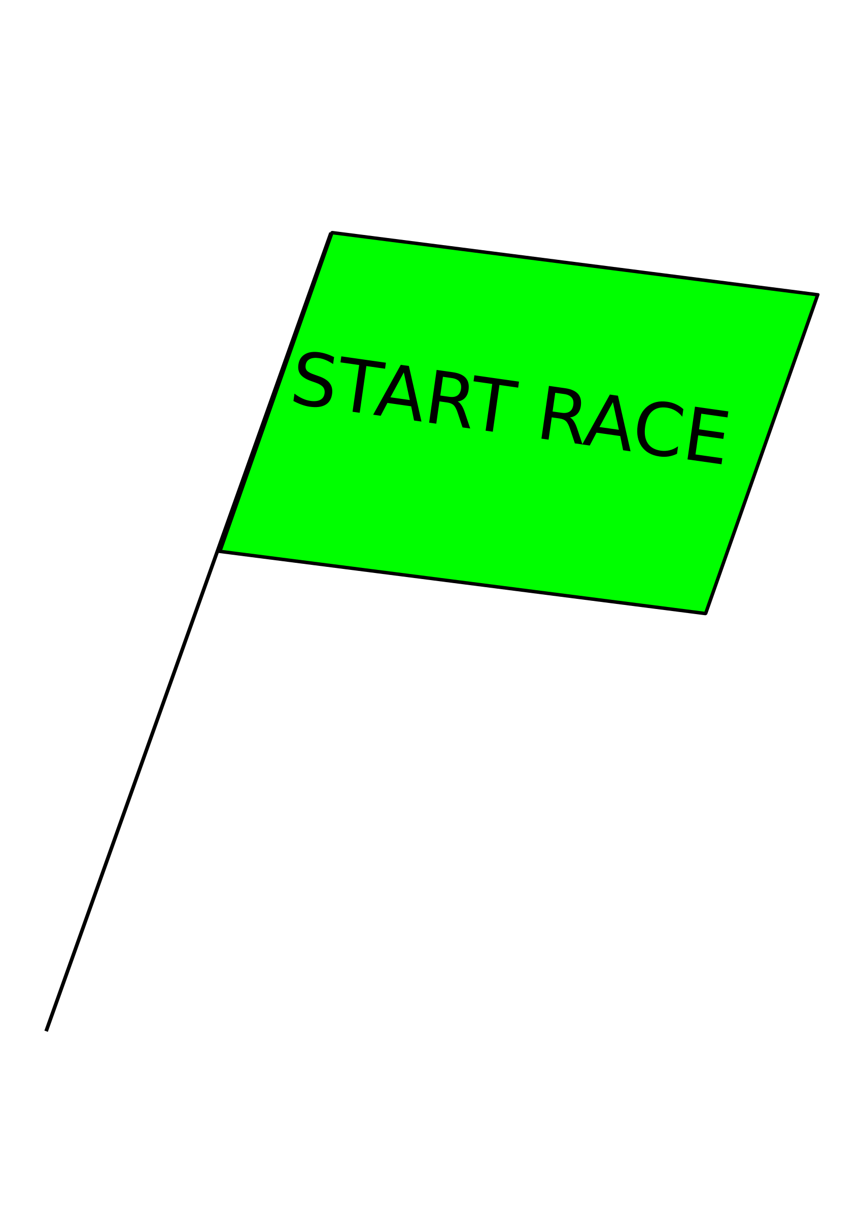 Race clipart end race. Green flag big image
