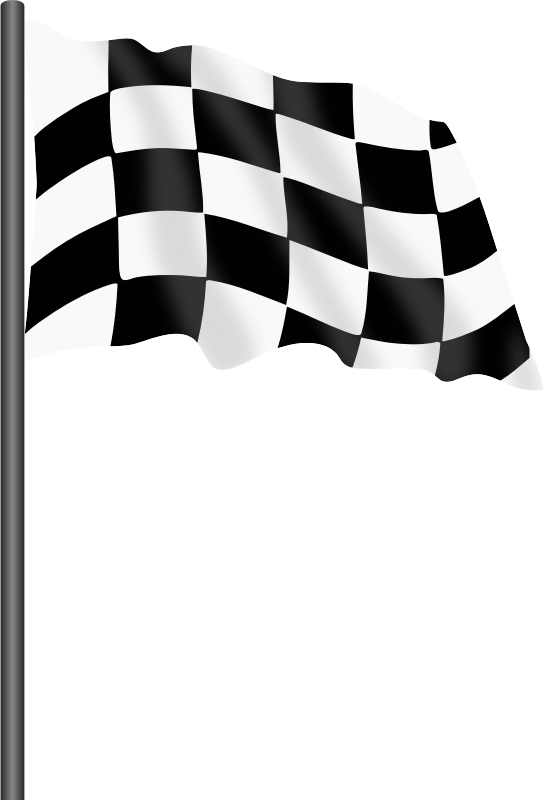 Motor racing flag chequered. Race clipart end race
