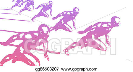 Race clipart excellence. Stock illustration striving for