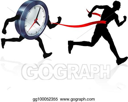 Eps illustration clock finish. Race clipart exercise