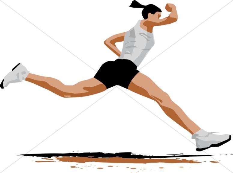 Race clipart exercise. Determined runner church activity