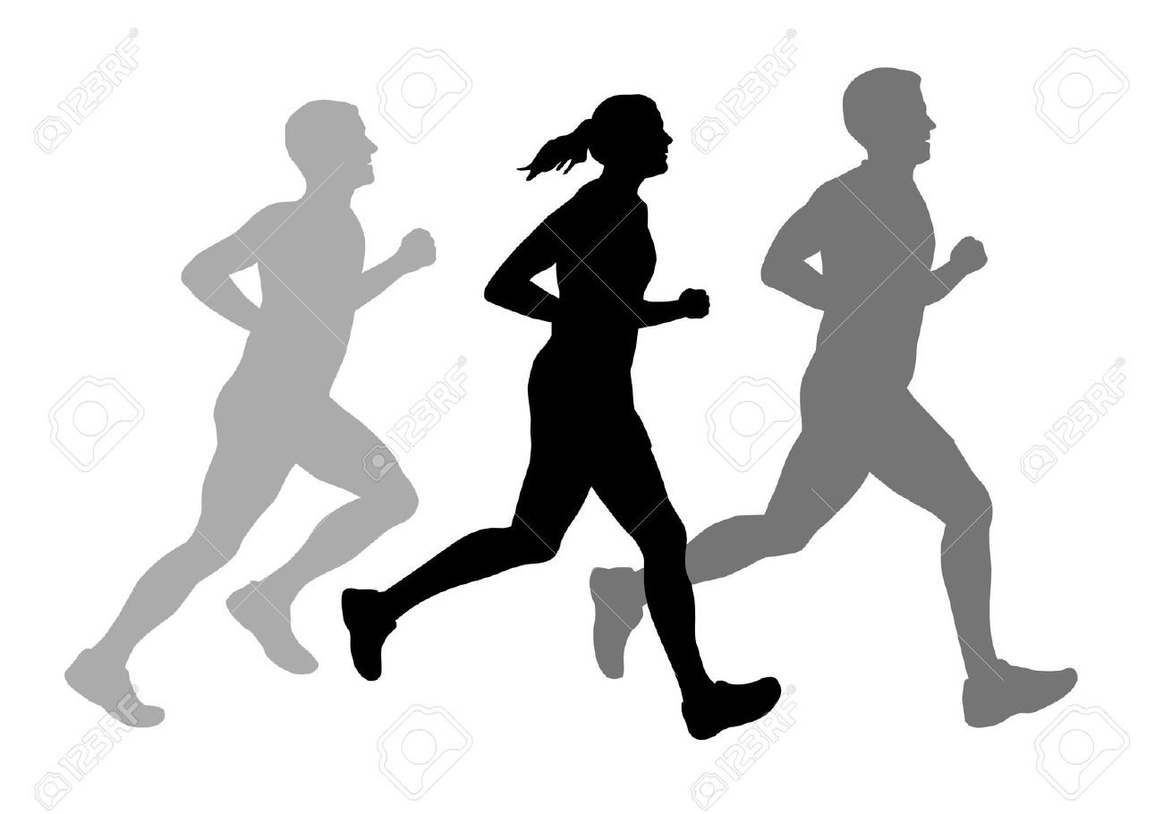 Running free download best. Race clipart group runner