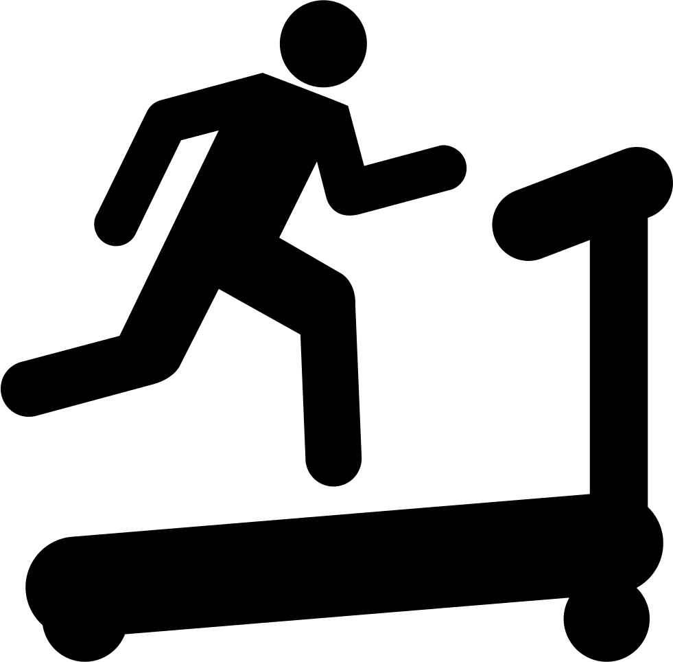 collection of treadmill. Race clipart hurdler