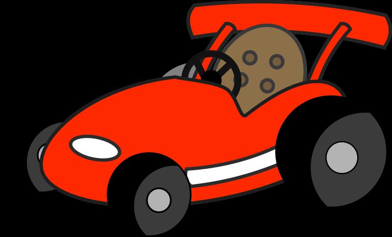 Kids kart track free. Race clipart kid race