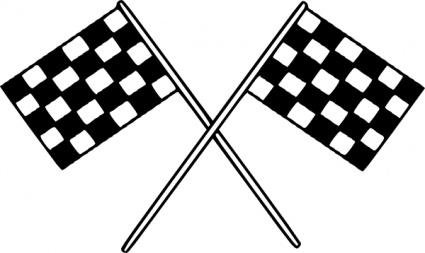 Motor racing flags clip. Race clipart meta