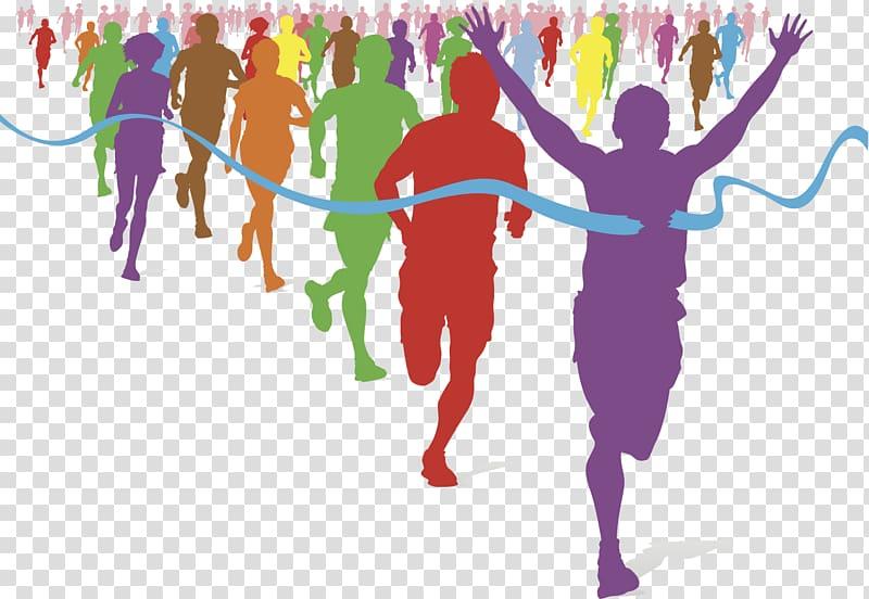 Marathon illustration the color. Race clipart mile run