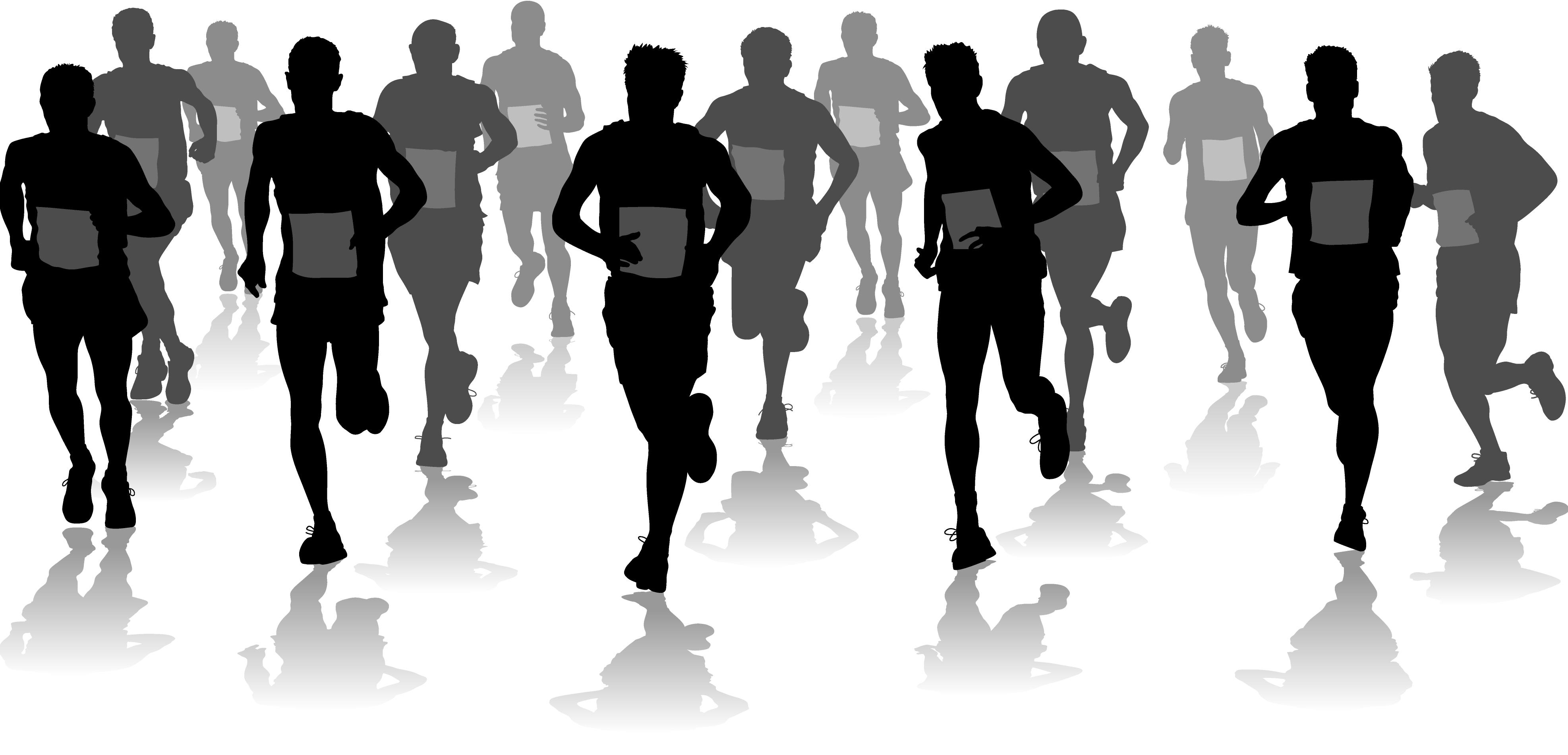 Boy running marathon runner or a boy running on Vector Image