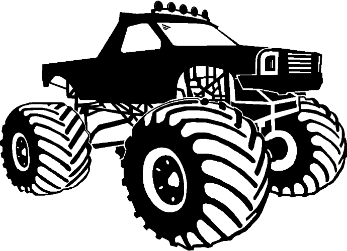 collection of black. Race clipart monster truck tire