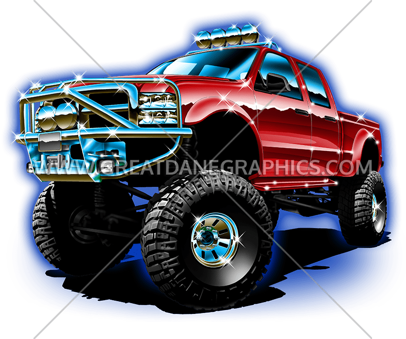 Race clipart monster truck tire. Big production ready artwork