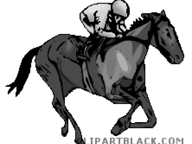 Race clipart mouse race. Horse racing christmas free