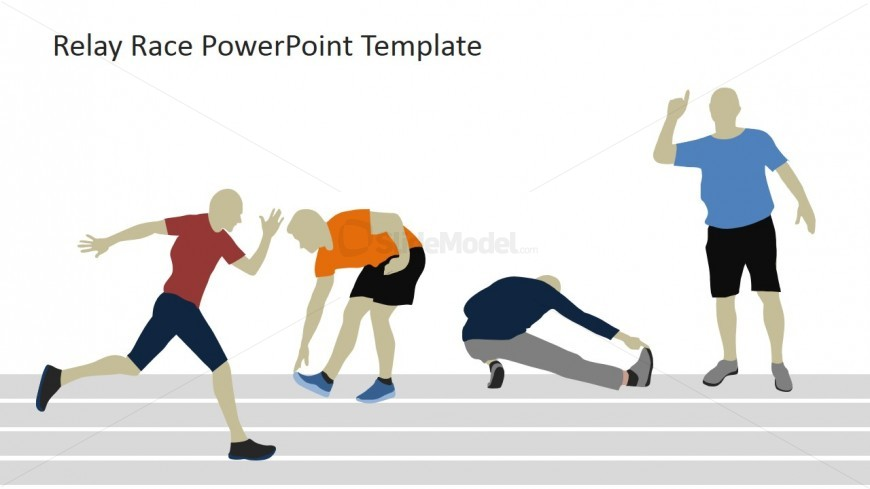 Powerpoint shapes of runner. Race clipart prize presentation