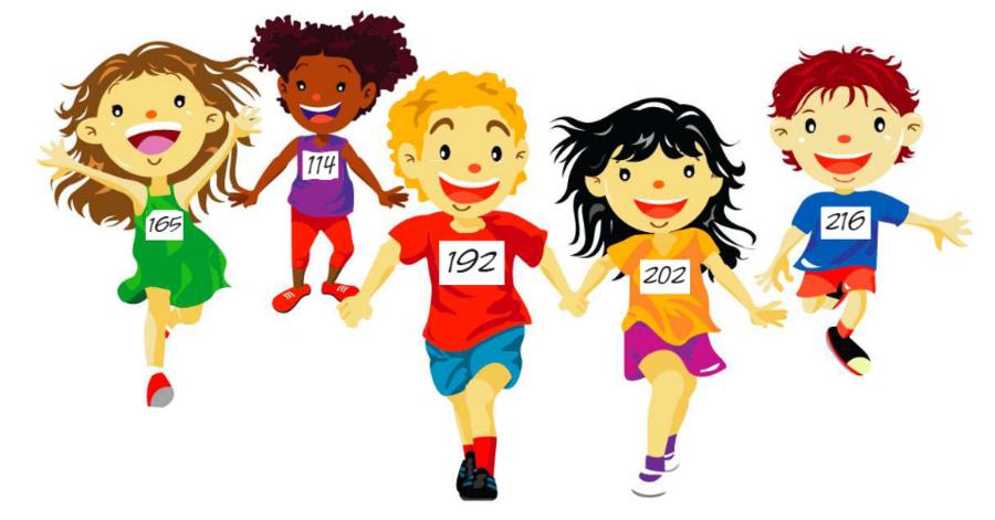 Race clipart running. Cartoon racing child