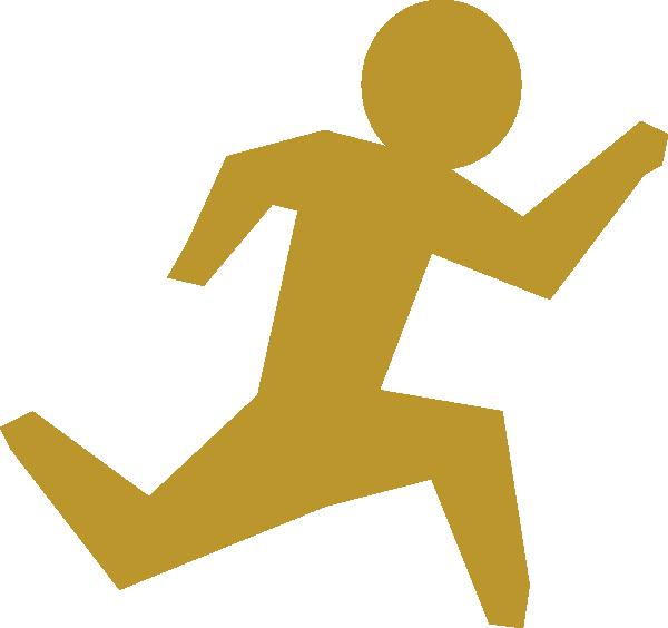 Man gold clip art. Race clipart running
