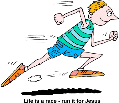 Image man life is. Race clipart running