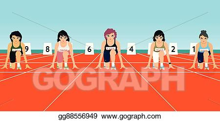 Vector art points drawing. Race clipart starting point