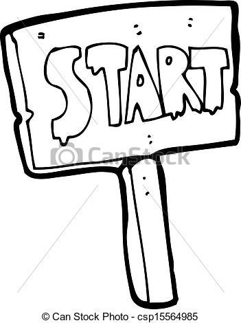 Race clipart starting point.  start clip art