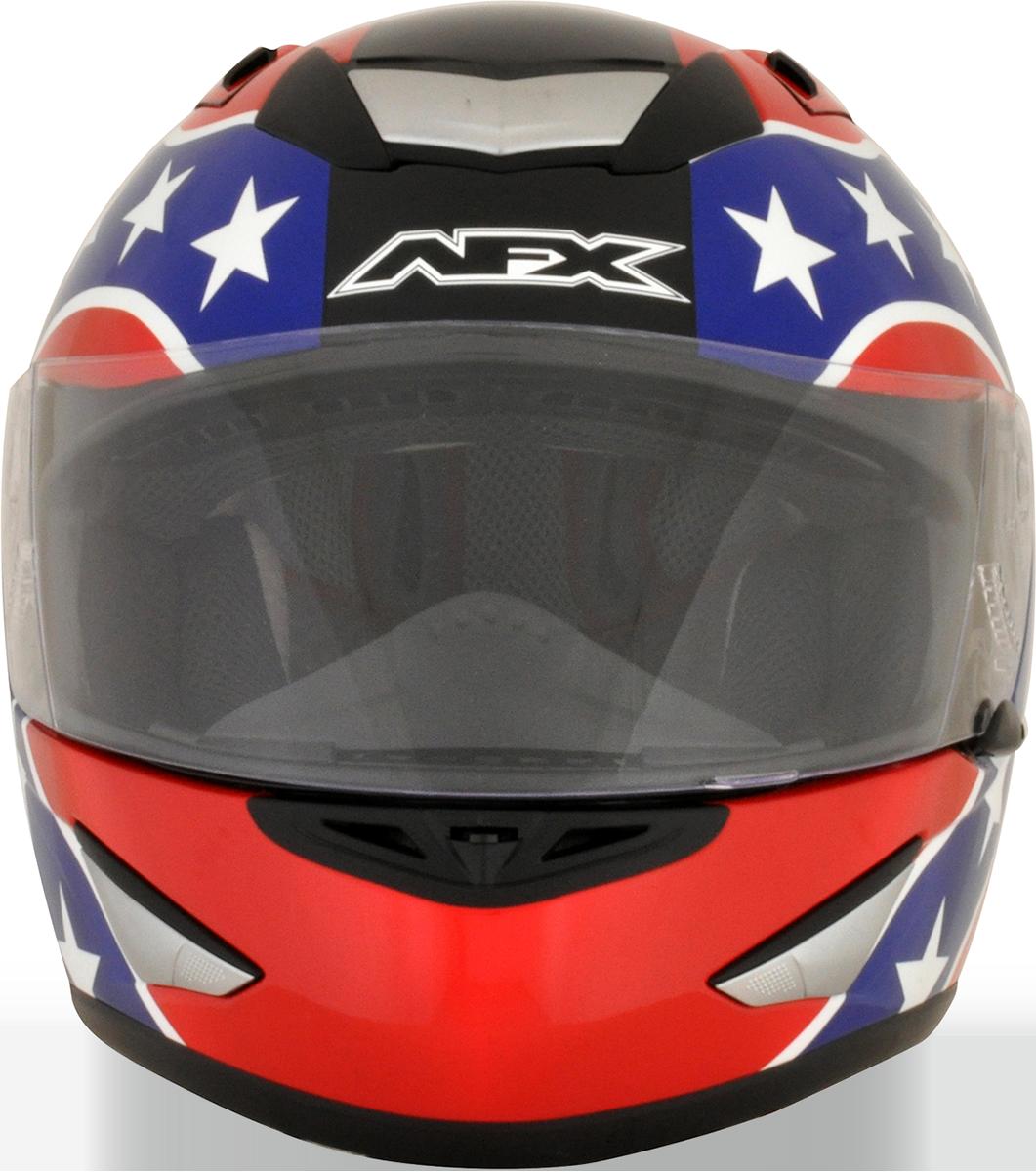 Racing helmet png. Afx red unisex rebel