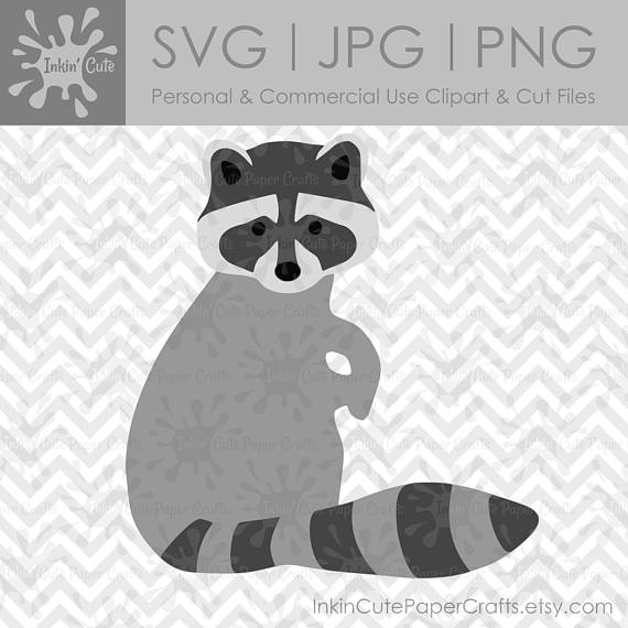 Raccoon svg file woodland. Racoon clipart