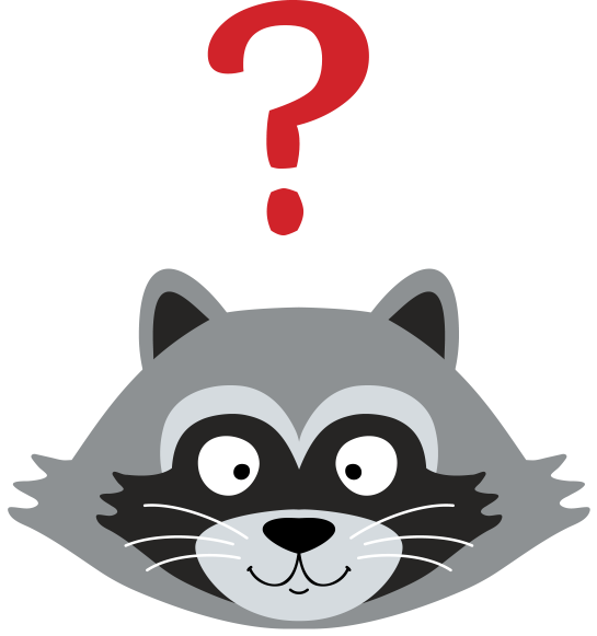 Parky the raccoon about. Racoon clipart animal head
